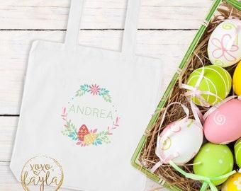 Easter Egg Bag, Easter Bag Tote, Easter Egg Basket, Easter Bag for Kids, Personalized Easter Bag, Easter Egg Hunt, Easter Egg Tote, bunny