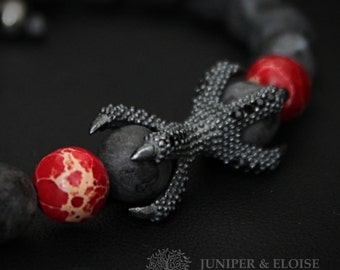 Game Of Thrones inspired Dragon, Targaryen, Jewelry 925 Silver Dragon Claw, Bracelet For Men , Gift For GOT Fans, armband
