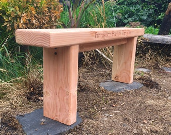 Douglas fir Garden Bench,  can be personalised