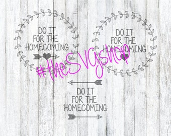 SVG File Do it for the Homecoming, Monogram