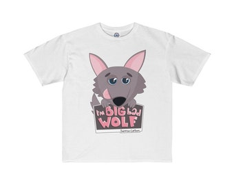 Big Bad Wolf Youth T-Shirt For Boys And Girls