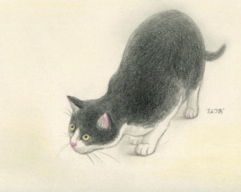 Cat original drawing - P008January2016