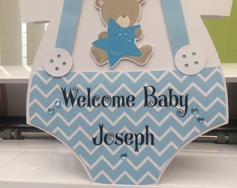 Welcome baby card, new baby card, baby boy card, baby shower, christening card, baptism card, baby birthday card, personalised birthday card