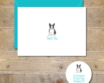 Dogs, Dog, Dog Thank You Cards, Thank You Cards, Dog Stationery, Bulldogs, Canines, Dog Note Cards, Note Cards