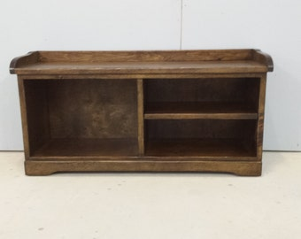 Wood Shoe Bench / Pine Shoe Bench / Entryway Bench / Cottage Cubby Bench