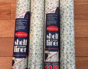 4 Rolls of Vintage Tiny Floral Shelf Liner