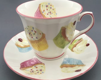 Royale Brindley Cup Cakes Tea Cup and Saucer