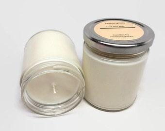 lemongrass soy candle,  soy jar candle,  soy candle,