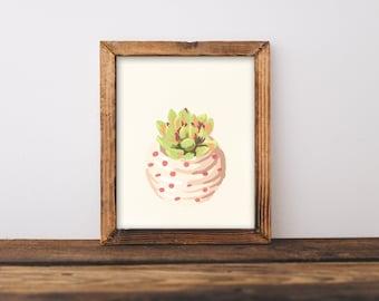 Succulent print, cactus watercolor, succulent art, Cactus print, cactus art, succulent wall art, cactus wall art, botanical print