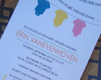 Blue or pink, what will it be? -  baby shower invitation - DIY - PRINT YOURSELF or purchase prints