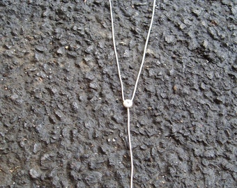 Silver Slide Necklace