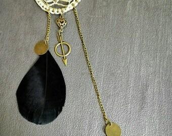dream catcher necklace unique Bohemian piece