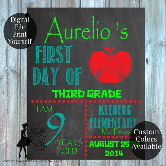 First Day Of School Chalkboard Sign 156
