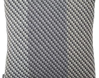 Charcoal Cushion   Contemporary Weave Grey Cushion