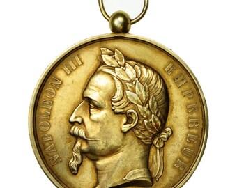 france medal napoleon iii  ville de lagny s/marne 1866 merley au(55-58)