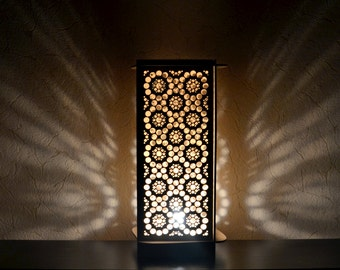 Wooden table floor Lamp handmade circle ornament light home decor