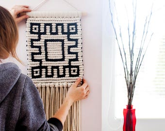 Macrame Wall Hanging, Woven Wall Hanging, Woven Wall Tapestry, Wall Tapestry, Macrame Wall Art, Woven Tapestry, Fiber Art, Boho Décor