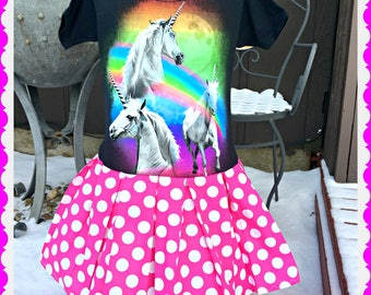 Girls Unicorn dress girls 4/5 6/6X 7/8 and 10/12 ready to ship
