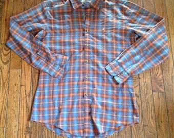 Vintage Levi's Men's M Plaid Shirt