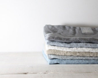 Set of 6 linen towels. Washed, natural, eco - friendly, handmade linen towels