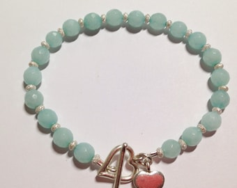 Innocent Hope. Amazonite sterling  silver bracelet.