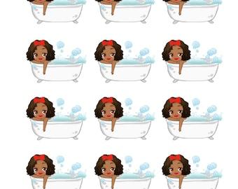 Bath Time sticker sheet