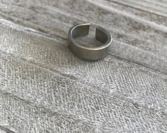 Personalized Pewter Ring for Him or Her