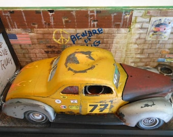 ScaleModel,Junkyard Dog,124Scale,Model Car,Classicwrecks,Rat Rod,Hot Rod,Rusted Junker