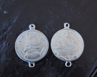 24 Silver Balboa Coin Connectors