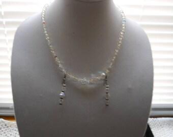 Vintage Crystal Necklace Earring Set #808