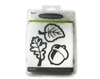 Acorn Die , Leaf Die , Darice Embossing Essentials Leaves and Acorn Metal Die (3 dies)