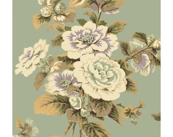 Antebellum Sage  Floral Cotton Quilt Fabric Washington St Sara Morgan  BTY
