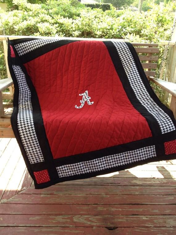 Houndstooth Baby Quilt Alabama baby bedding crib comforter