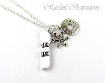 Snowboard jewellery, Snow birthday gift, Gift for a snowboarder, Snowboarder, Snowboard gift, Snow boarder gift, Snowboarding necklace