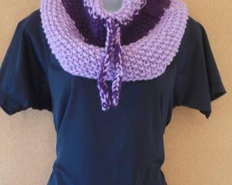 Lilac and purple collar