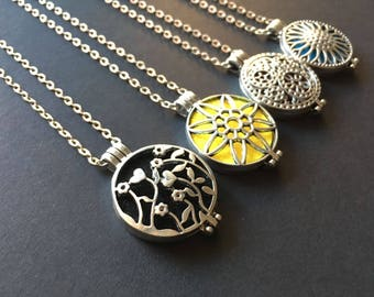 Aromatherapy Necklace Diffuser - Silver