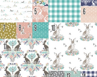 Cottontail (Baby Bedding) Bunny Rabbit Premium Crib Bedding. Rabbit Crib Set. Bunny Crib Set. Toddler Bedding. Choose your Design.