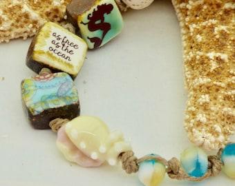 Boho Mermaid Bracelet, Blue Bracelet, Cute Bohemian Beach Bracelet, Perfect for Beach Lover, Mermaid Jewelry, Nautical Bracelet, Fun Gift