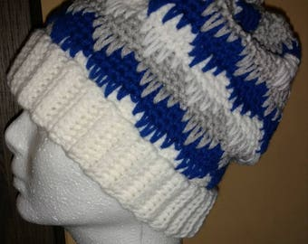White Band Eyelash winter hat