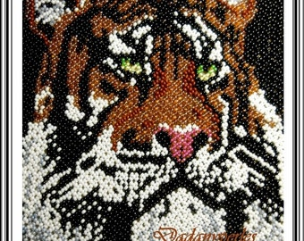 new pattern bead weaving tapestry with technique  free  tiger