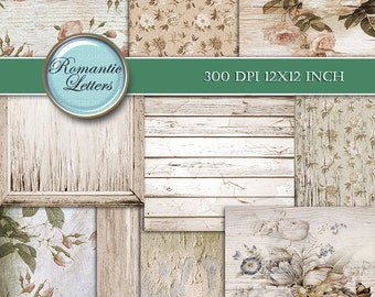 Digital vintage paper digital scrapbook vintage paper vintage digital background digital paper sepia shabby chic digital scrapbooking  rose