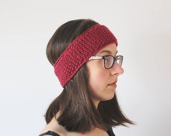 Headband, Ear Warmer, Pink Headband for Women