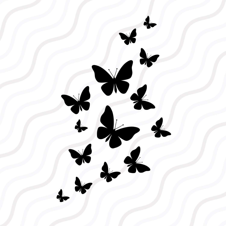 Fluttering Butterflies Svg Butterfly Svg Cut Table Design