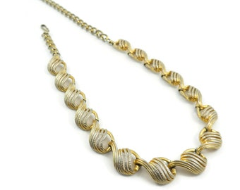 Vintage, Links Necklace, Gold Tone, Chain