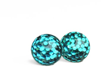 POP Earrings / Mermaid Tail / Color POP / Handmade Jewelry / Resin Jewelry
