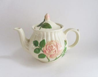 Vintage Teapot Shawnee Pottery Rose Ceramic Teapot 1950's Two Available