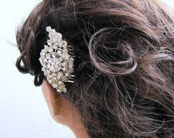 Sparkling rhinestone hair comb, bridal decorative comb, wedding head piece, vintage inspired hair accessory  - Kelly