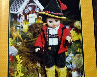 Hansel Doll Outfit Crochet Patterns Fibre Craft Doll Jack and Jill 13 inch doll outfit