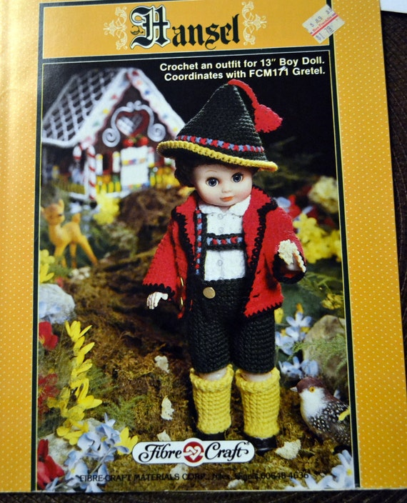 Hansel Doll Outfit Crochet Patterns Fibre Craft Doll Jack And Jill