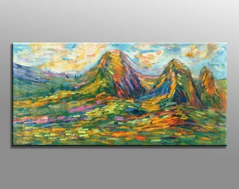 Autumn Landscape Painting, Painting Abstract, Abstract Canvas Painting, Contemporary Art, Modern Painting, Canvas Painting, Oil Painting